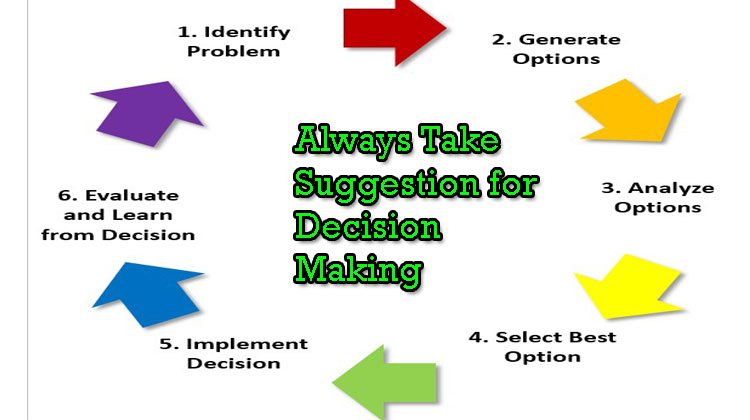 Always-Take-Suggestion-for-Decision-Making