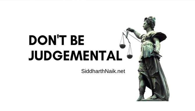 Don't Being Judgmental