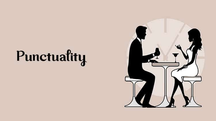 what to expect on a first date. Punctuality