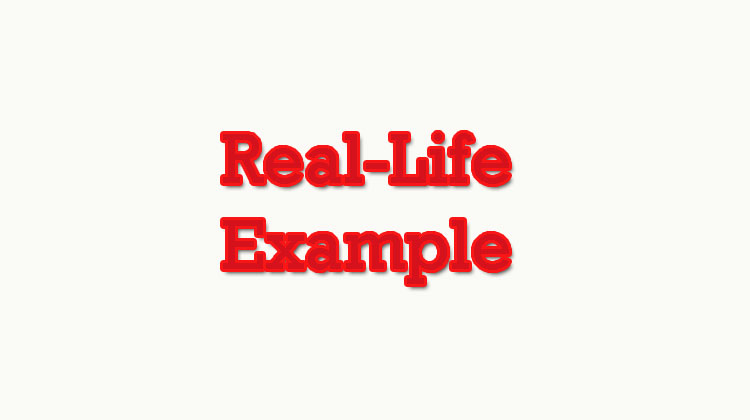 Real-life-example
