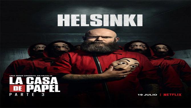 Helsinki Structure in Money Heist