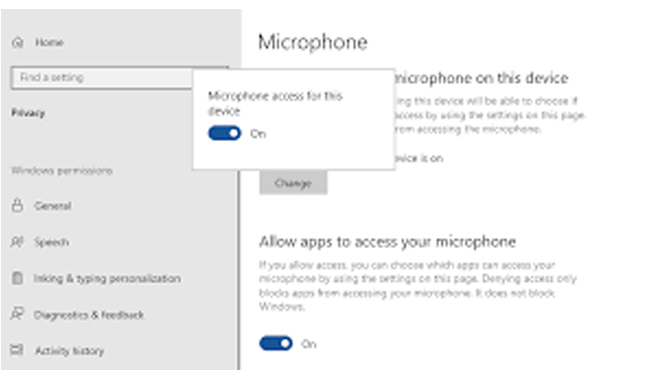 Allow Settings For Audio Apps