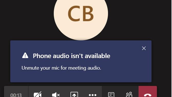Audio Configuration Error